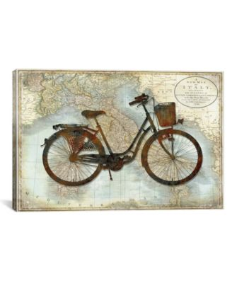 Bike Italy by Amanda Wade Wrapped Canvas Print - 18