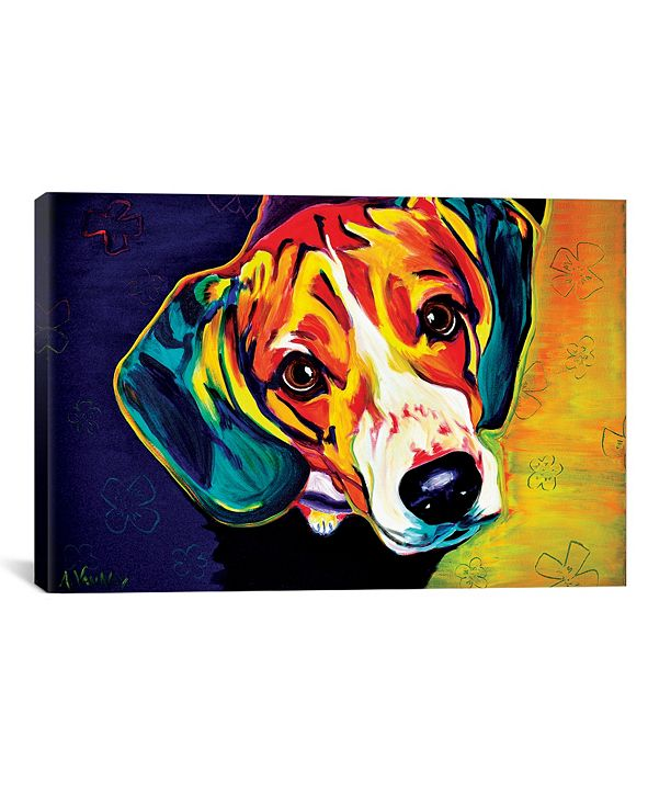 "iCanvas Beagle Bailey by Dawgart Wrapped Canvas Print - 26"" x 40"""