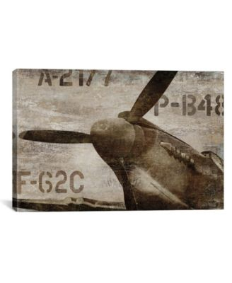 "Vintage Airplane by Dylan Matthews Wrapped Canvas Print - 40"" x 60"""