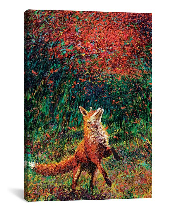 "iCanvas Fox Fire by Iris Scott Wrapped Canvas Print - 60"" x 40"""