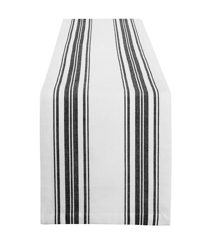 Elrene - Farmhouse Living Homestead Stripe Red/White Table Runner