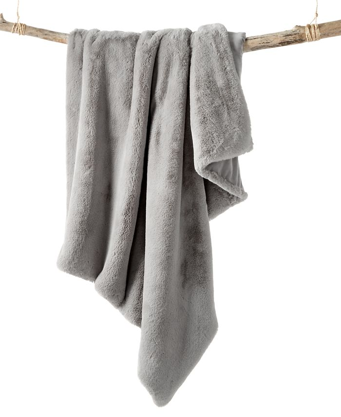 Martha Stewart Collection - Solid Faux Fur Throw