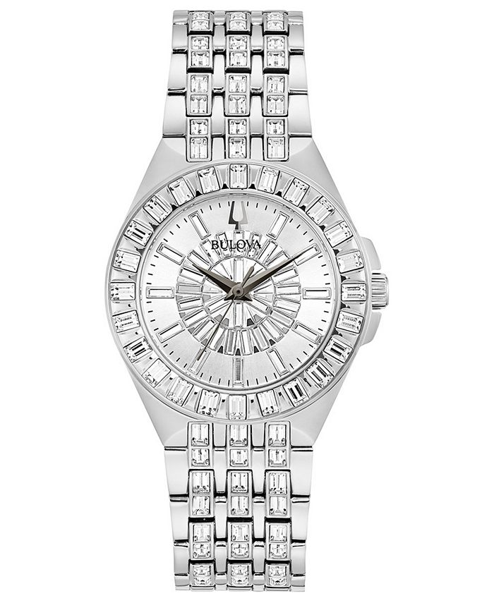 Bulova - Women's Phantom Stainless Steel Bracelet Watch 32mm