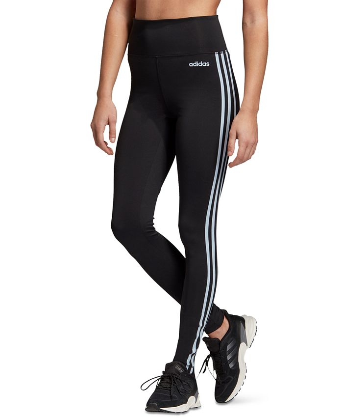 adidas - Design 2 Move 3-Stripe High-Rise Leggings