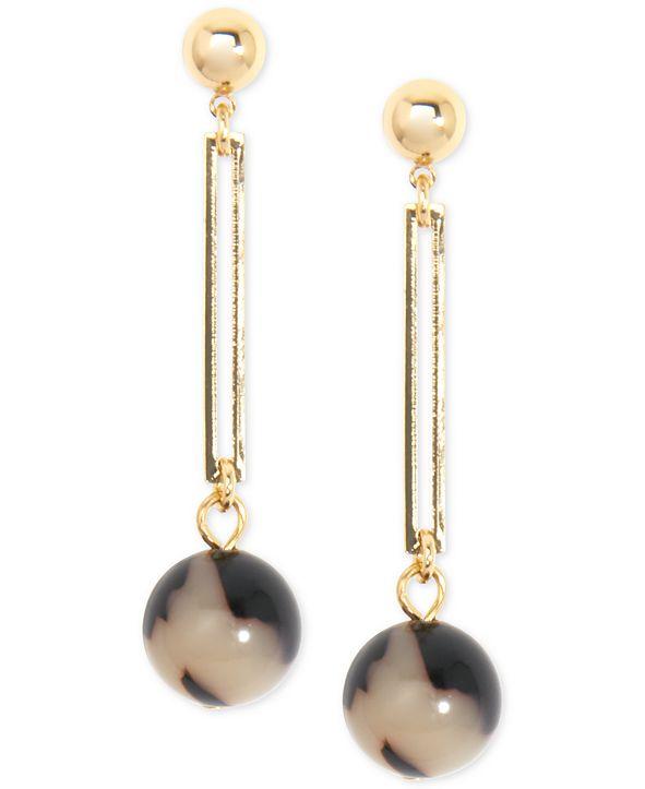 Zenzii Gold-Tone & Acetate Ball Drop Earrings