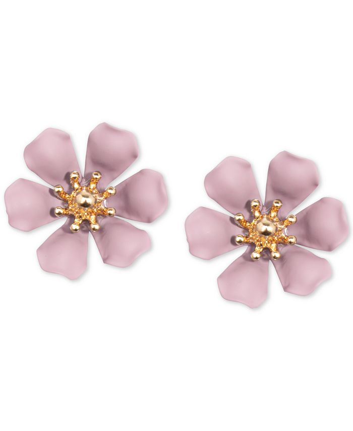Zenzii - Gold-Tone & Suede-Painted-Finish Lily Stud Earrings