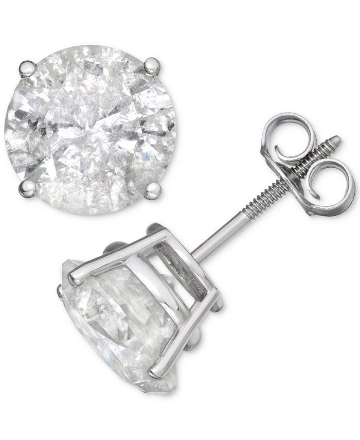 Macy's - Diamond Stud Earrings (6 ct. t.w.) in 14k White Gold