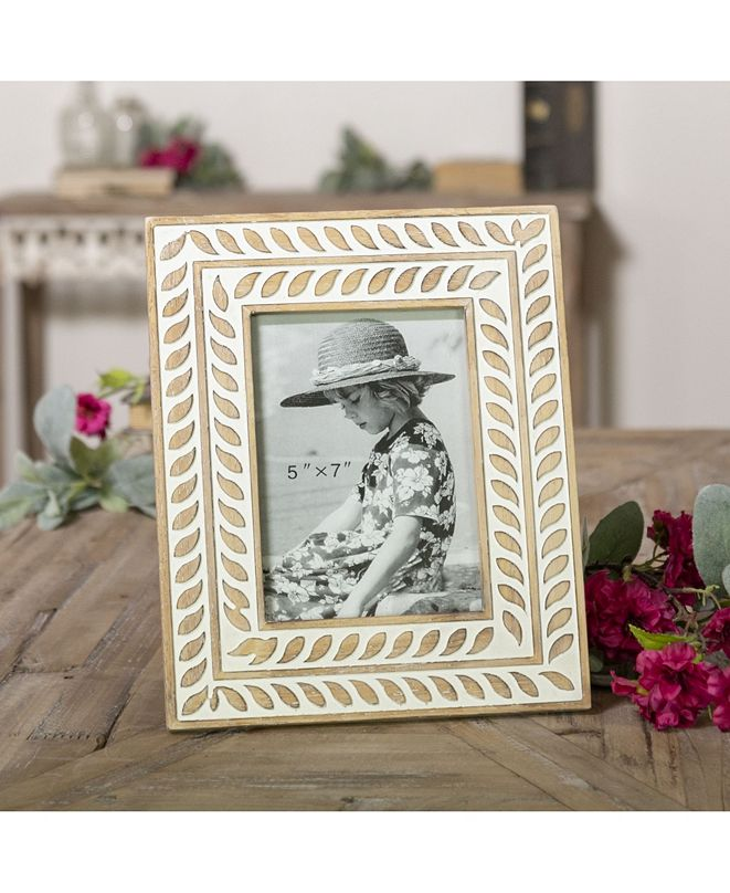 """VIP Home & Garden 5"""" x 7"""" Multi Wood Picture Frame"""