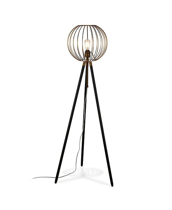 Hudson & Canal Paramon Floor Lamp In Antique Brass