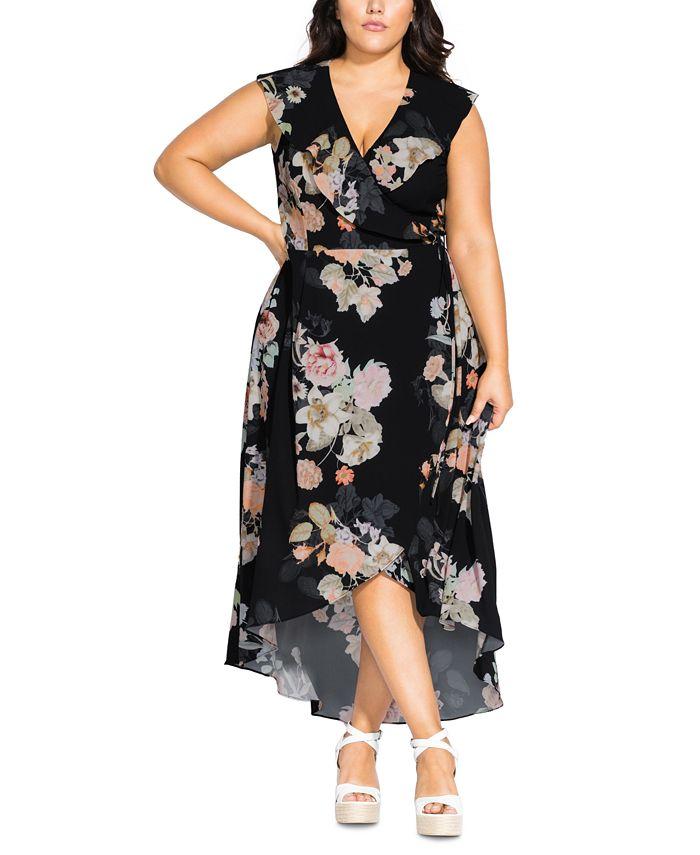 City Chic Trendy Plus Size High Low Maxi Wrap Dress Reviews Dresses Plus Sizes Macy S