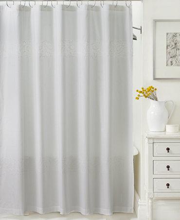 martha stewart collection colette shower curtain shower curtains