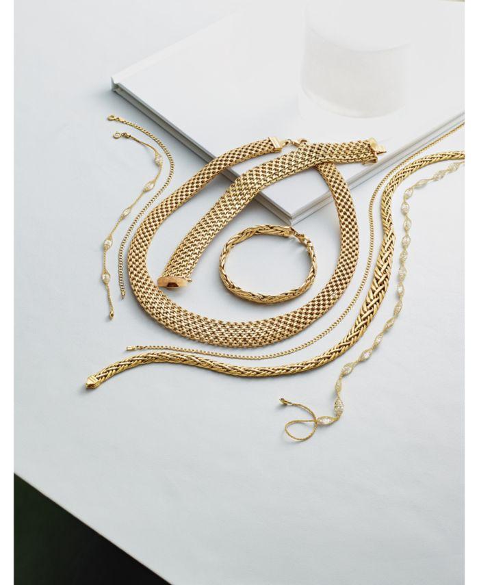 Italian Gold Cubic Zirconia Mesh Link Bracelet in 14k Gold & Reviews - Bracelets - Jewelry & Watches - Macy's