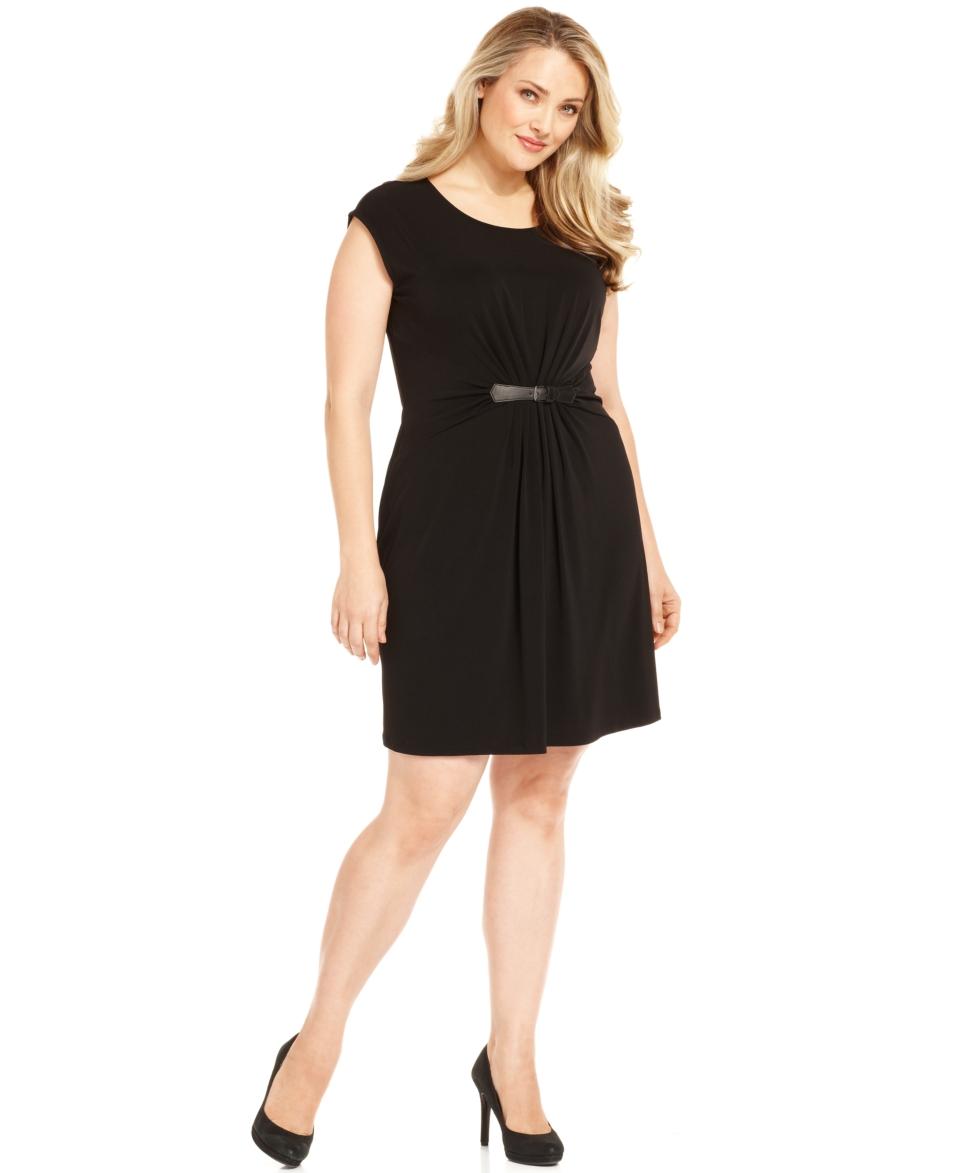 MICHAEL Michael Kors Plus Size Dress, Cap Sleeve Gathered