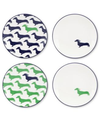 kate spade new york Dinnerware, Set of 4 Wickford Dachshund Tidbit Plates