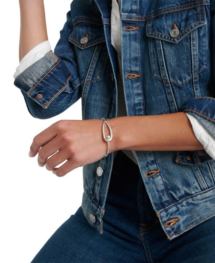 Lucky Brand Silver-Tone Modern Bangle Bracelet & Reviews - Bracelets - Jewelry & Watches - Macy's