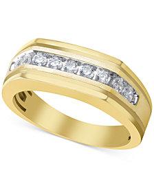 Men's Diamond Ring (1/2 ct. t.w.) in 10k Gold
