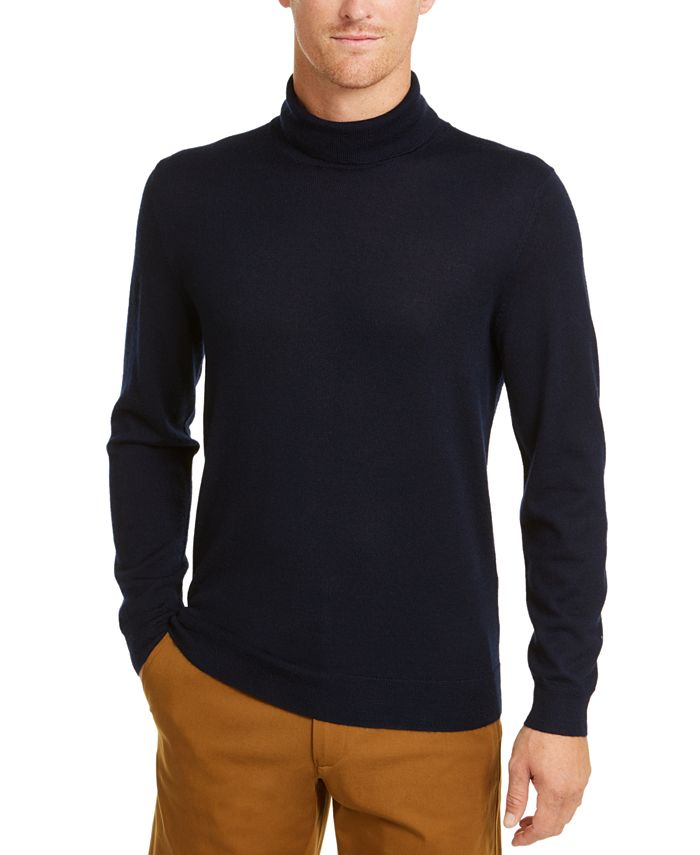 Club Room - Men's Merino Turtleneck