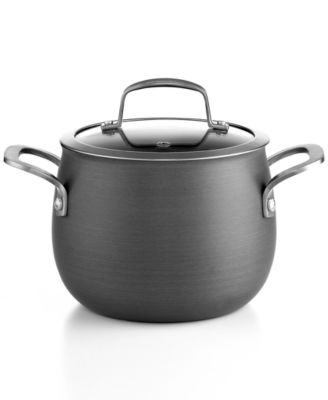 Belgique Hard-Anodized 3-Qt. Soup Pot with Lid, Only at Macy's
