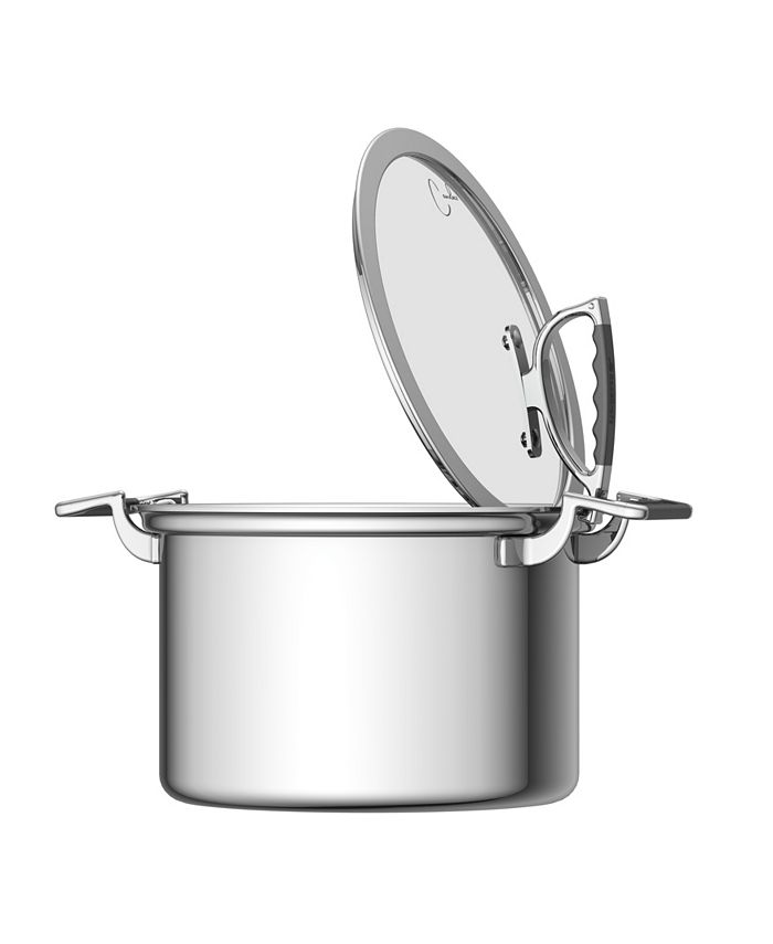 CookCraft - 8 Quart Stock Pot with Glass Latch Lid