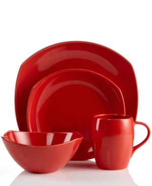 Dansk Dinnerware, Classic Fjord Chili Red 4 Piece Place Setting