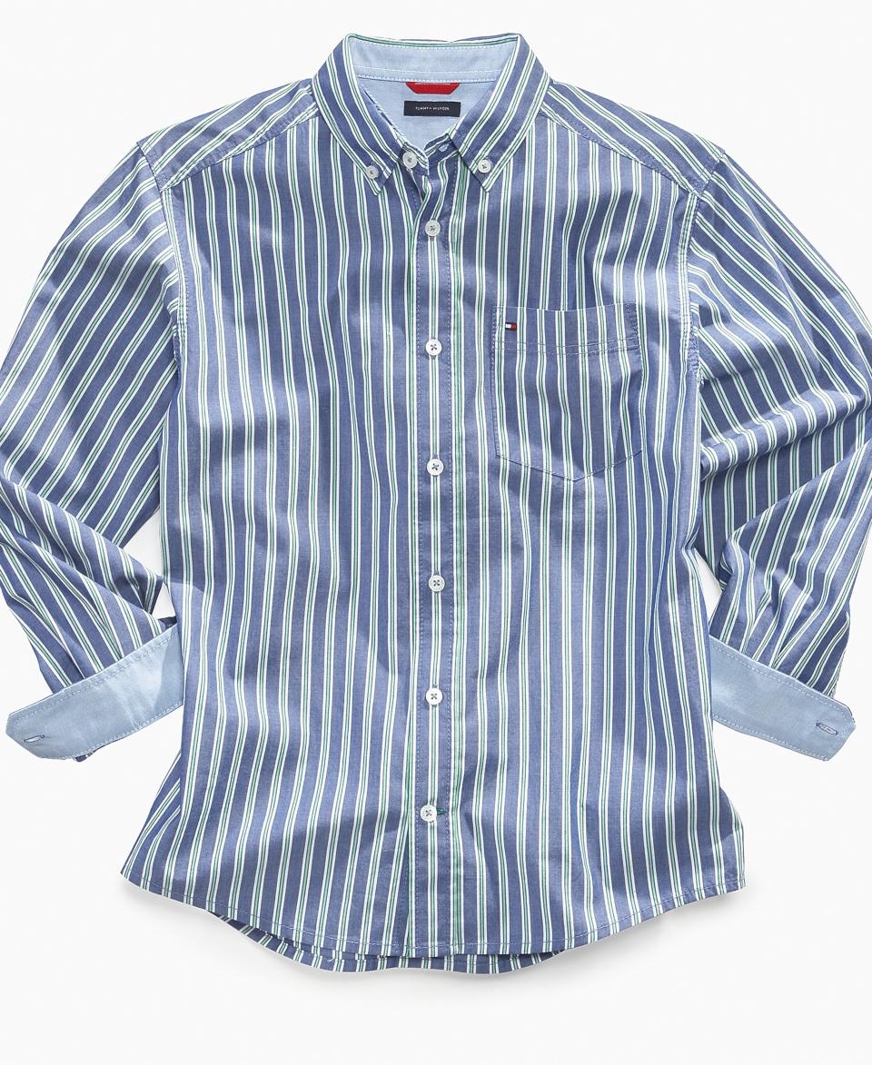 Tommy Hilfiger Kids Shirt, Boys Sean Stripe Shirt