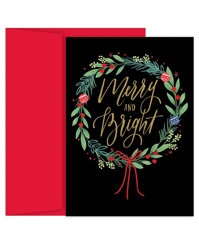 Masterpiece Cards Masterpiece Studios Merry & Bright Wreath Holiday Boxed Cards