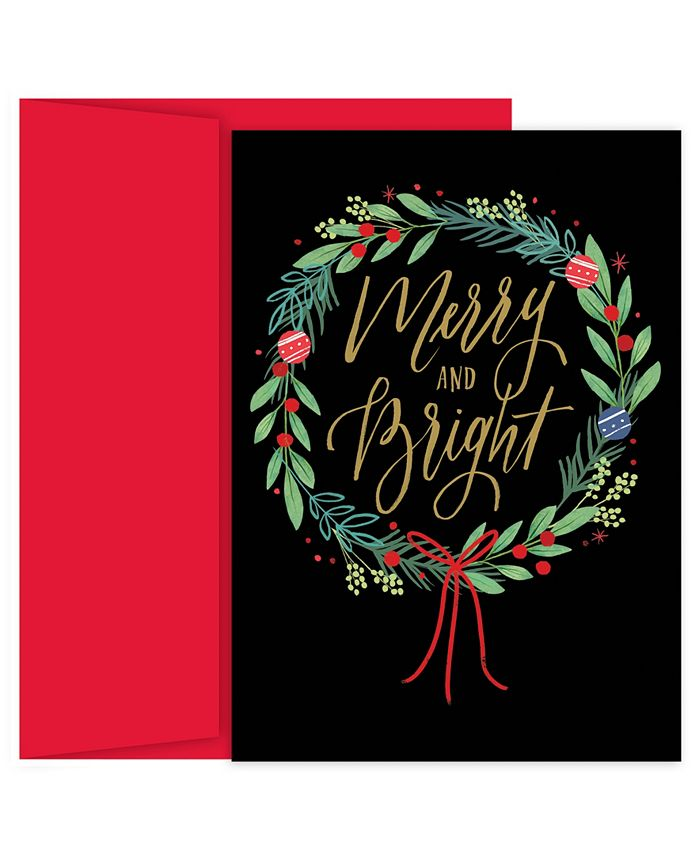 Masterpiece Studios - Masterpiece Merry & Bright Wreath Holiday Boxed Cards