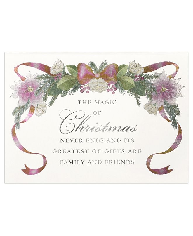 Masterpiece Studios Masterpiece Cards Magic of Christmas Holiday Boxed Cards, 16 Cards and 16 Envelopes