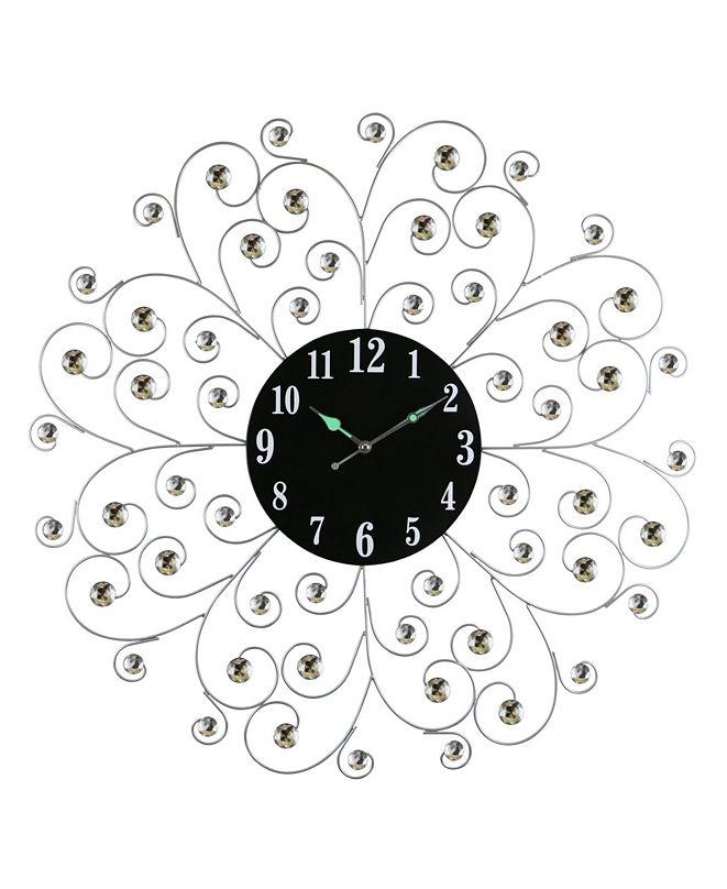 Three Star Spirals Wall Clock