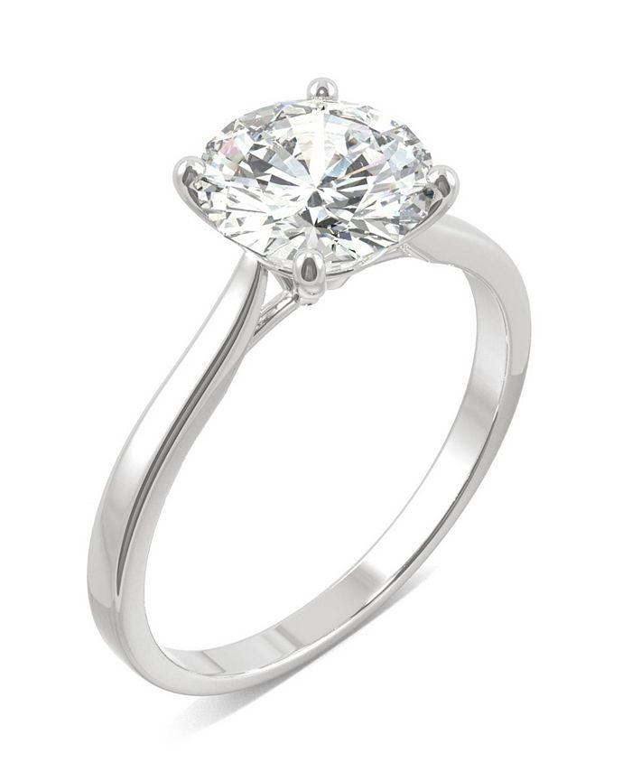 Charles & Colvard - Moissanite Round Solitaire Ring (1-9/10 ct. t.w.) in 14k White Gold