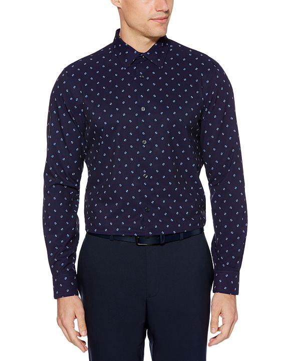 Perry Ellis Men's Slim-Fit Square-Print Shirt