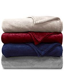 Lauren Ralph Lauren Micromink Plush Blanket Collection