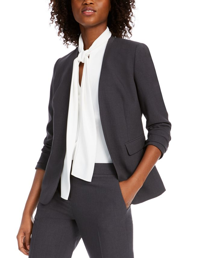 Bar III - Collarless Open-Front Jacket