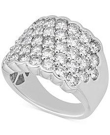 Diamond Pavé Cluster Ring (3-1/6 ct. t.w.) in 14k White Gold