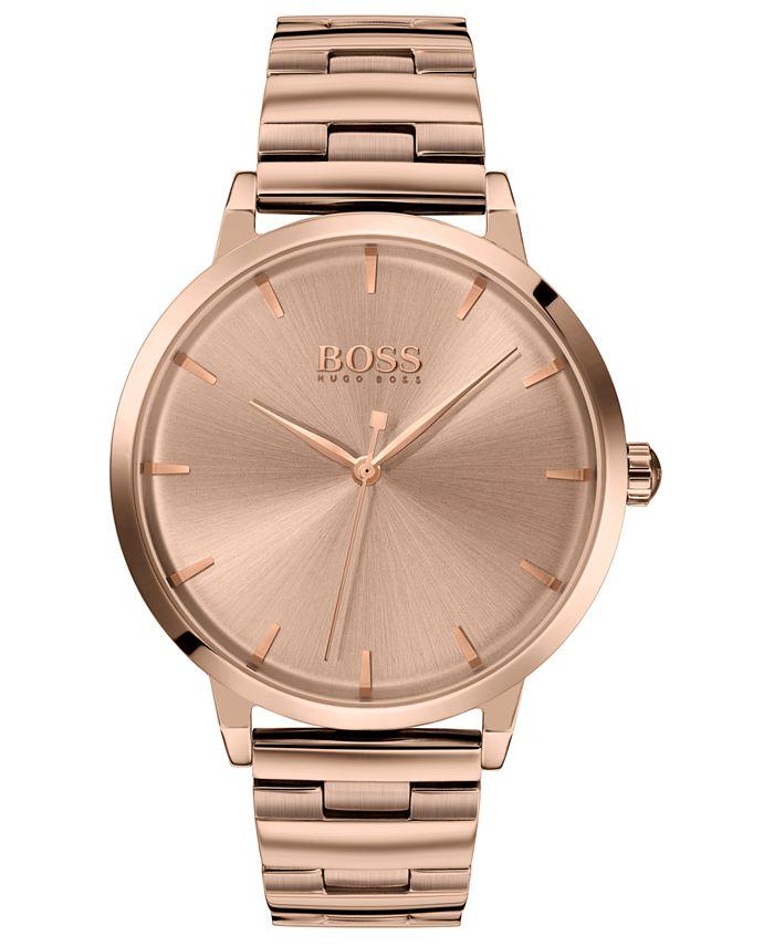 BOSS - Women's Marina Rose Gold Ion-Plated Stainless Steel Bracelet Watch 36mm