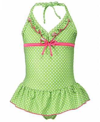 Penelope Mack Kids Swimwear, Little Girls or Toddler Girls One-Piece Ruffled Swimsuit