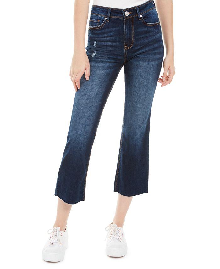 Indigo Rein - Juniors' Ripped Cropped Flare-Leg Jeans