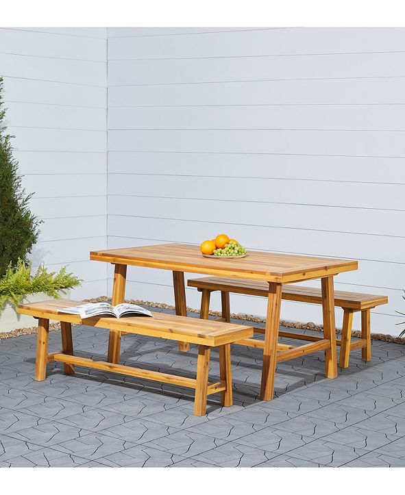 VIFAH Miami 3-Piece Outdoor Patio Picnic Dining Set
