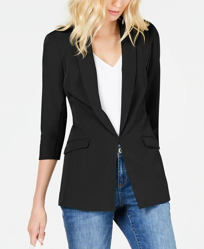 INC International Concepts - 3/4-Sleeve Blazer, Created for Macy's