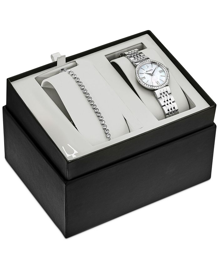Bulova - Women's Stainless Steel Bracelet Watch 33mm