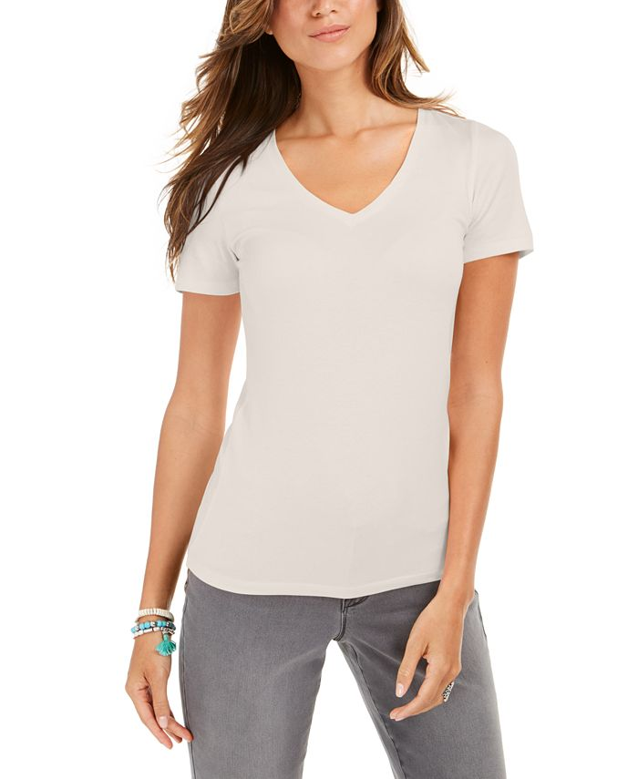 Style & Co - V-Neck T-Shirt, Created For Macy's