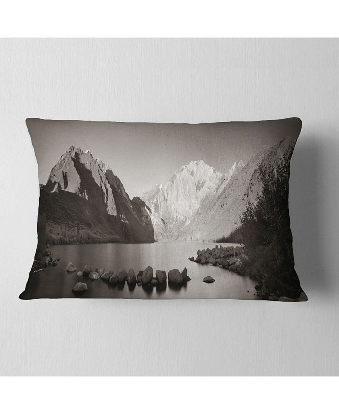 Design Art Designart Snow Mountain Lake Panorama Landscape Printed Throw Pillow 12 X 20 Reviews Decorative Throw Pillows Bed Bath Macy S