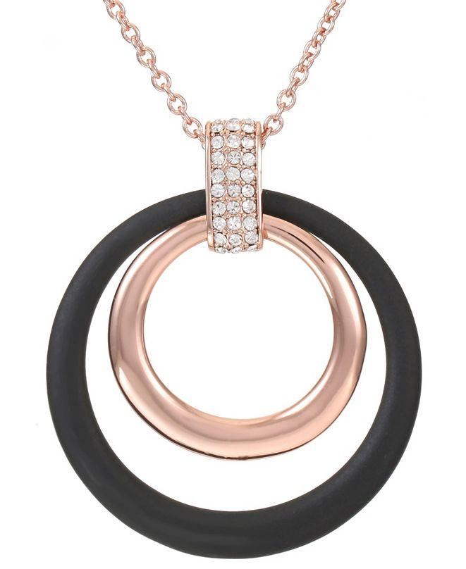 Trifari 12K Rose Gold-Plated Long Pendant Necklace
