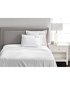 """CLOSEOUT! Charter Club Damask Designs """"Your Side/My Side"""" Cotton 20"""" x 28"""" Sham, Created for Macy's"""