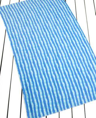 Martha Stewart Collection Shoreline Stripe Beach Towel