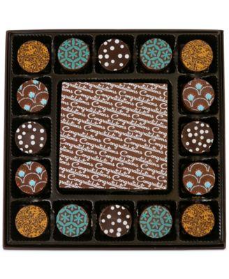17-Pc. Congratulations Gourmet Chocolate Truffles