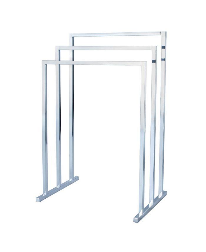 Kingston Brass - Modern Pedestal 3-Tier Steel Construction Towel Rack