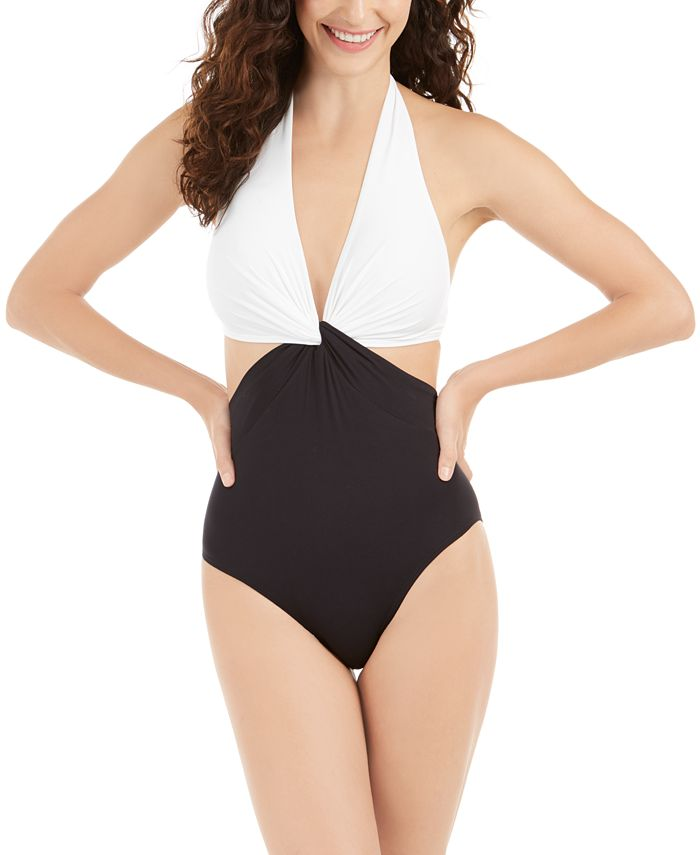 kate spade new york - Twist Front One-Piece Swimsuit