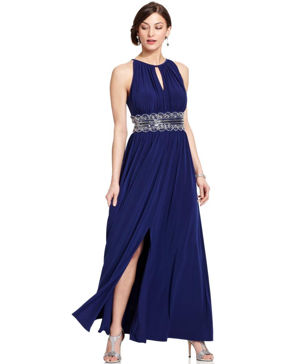 Adrianna Papell Tiered Evening Dress   Dresses   Women
