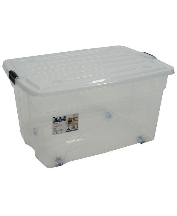 TAURUS 16 Gallon Rolling Bin Storage Organizer